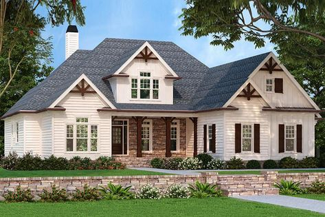 House Plan 8594 00156 Craftsman Plan 2 400 Square Feet 3 4 Bedrooms 2 5 Bathrooms Craftsman House Plans Country Style House Plans Craftsman House