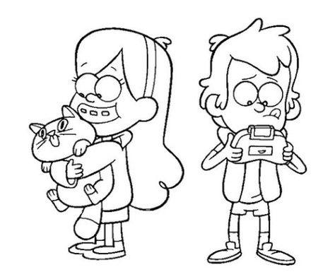 Dibujos E Imágenes De Gravity Falls Para Colorear E Imprimir