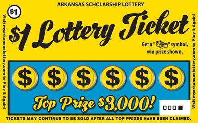 $1 Lottery Ticket win up to $3000 00 - Game No  420