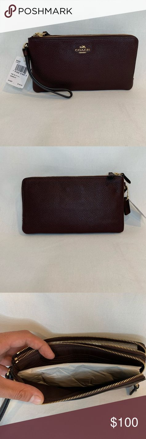 8cab1e5d05af Coach double zipper wallet Never been used, has tags and care instructions.  MSRP $145! Coach Bags Wallets