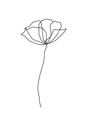 Image Result For Single Line Flower Single Minimalist Simple Minimalist Lifestyle How To Be A Minimalis Line Art Flowers Flower Line Drawings Line Flower