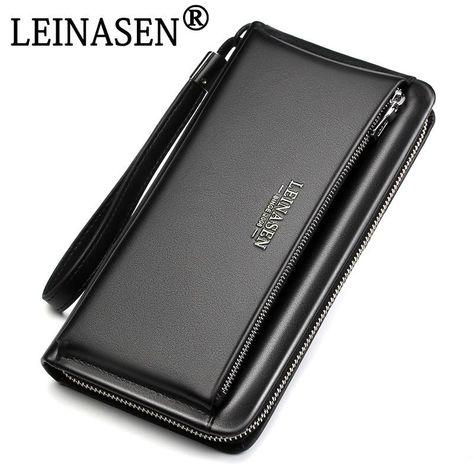 designer luxury Brand Genuine Leather Wallet - Black