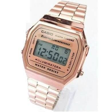 Para estrenar 9bd47 49018 Reloj Casio Rosa Dorado A168 ... | Reloj en 2019 | Reloj ...