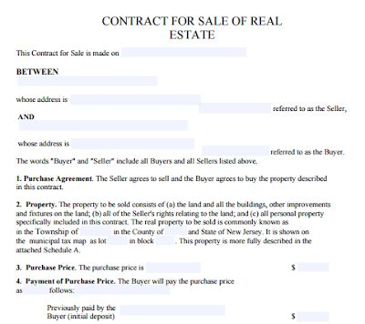 Real Estate For Sale By Owner Contract Template Contract Template Real Estate Contract Rental Agreement Templates