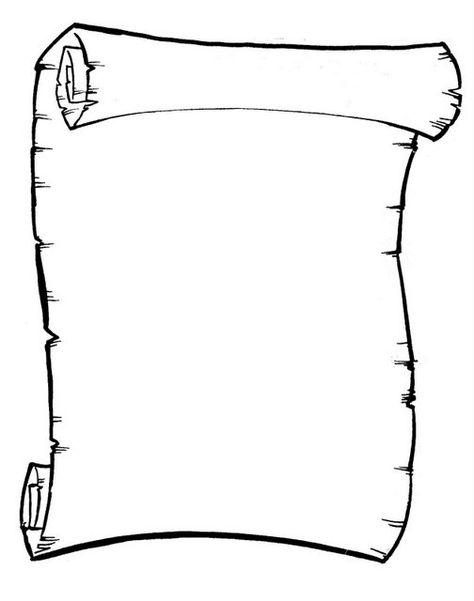Desenhos Desenho De Pergaminho Para Imprimir Com Imagens