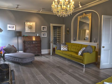 gray wood flooring  | Bespoke Old Grey Natural Wood Flooring / Real Solid Oak London