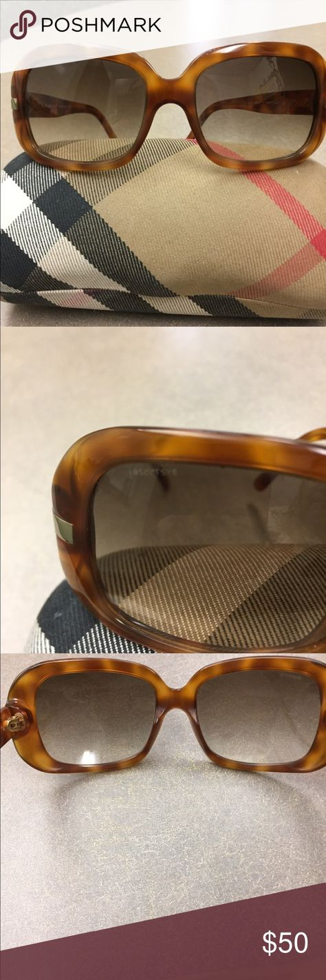 1bfba7cab56e Burberry Tortoise Shell Sunglasses Authentic Burberry Tortoise Shell  Sunglass Serial number on arm of glasses Excellent