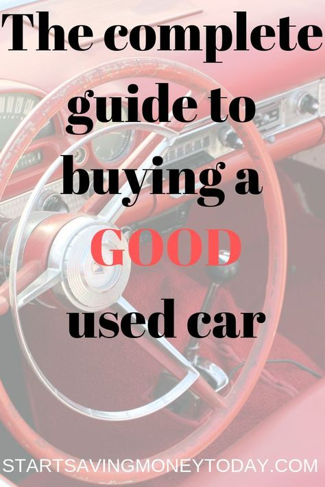 USED CAR CHECK LIST - The Art of Frugal Living
