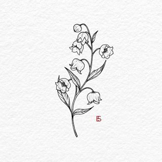 Lily of the valley tattoo drawing