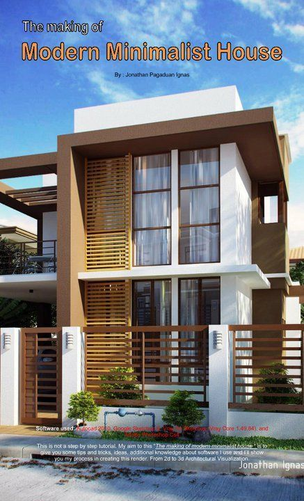 Sketchup And Vray Resources The Making Modern Minimalist House By Jonathan Pagaduan Modern Minimalist House Philippines House Design Minimalist House Design House design making software
