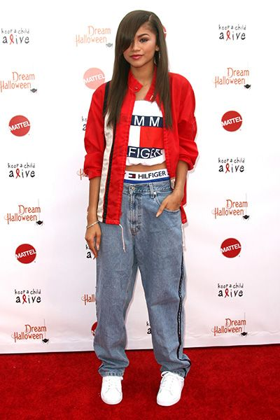 Zendaya: Aaliyah Costume for Dream Halloween Performance!: Photo Zendaya debuts her Aaliyah costume on the red carpet at Keep A Child Alive's Annual Dream Halloween held at the Barker Hangar on Saturday night (October