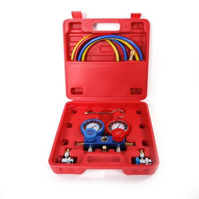 R134A AC A//C Manifold Gauge Set with Hoses and Air Vacuum Pump R12 New R 134 A
