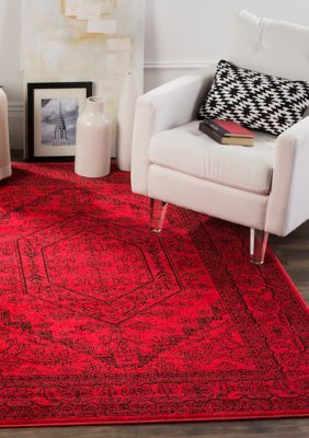 Safavieh Adirondack 10 Ft X 14 Ft Area Rug Red Black Over 9 X 12 Black Rug Red Rugs Home Decor Styles