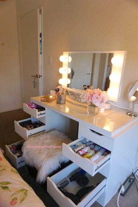 Diy Ikea Alex Vanity Blushing In, Make Your Own Vanity Mirror Ikea