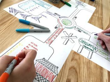 Doodle Note Poster Template Kit: Roads