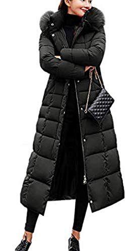 Neuda Damen Warm Winterjacke Parka Jacke Mantel Lange Mit