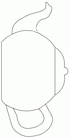 6 Best Images Of Printable Tea Pot Teapot Coloring Page Free Teapot Crafts Templates Printable Free Applique Templates