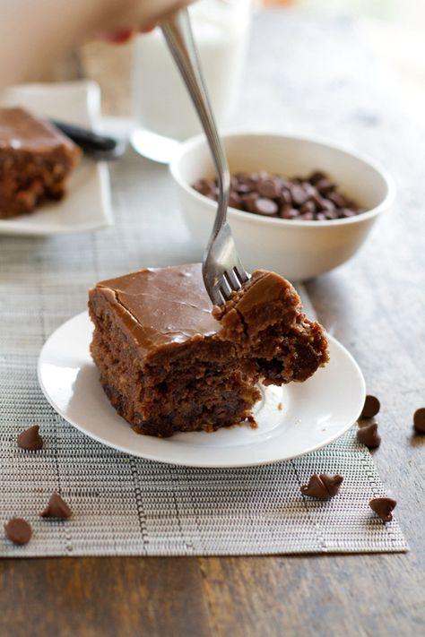 The World's Best Chocolate Oatmeal Cake
