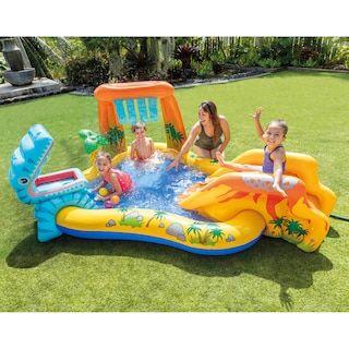 Intex Dinosaur Play Center Pool Kohls In 2020 Dinosaur Play Play Centre Kiddie Pool