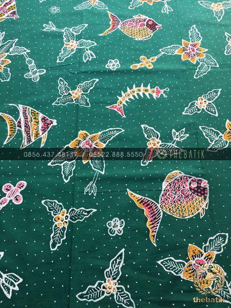 Motif Batik Fauna : motif, batik, fauna, Batik, Tulis, Flora, Fauna, Motif, Hijau, THEBATIK.CO.ID, Flora,, Surface, Design,