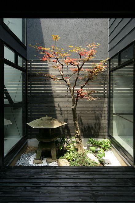 西京の和モダンな中庭のある家 京都 施工例 建築家の住宅を
