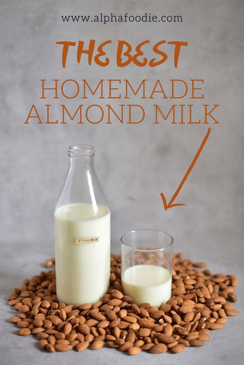 Learn how to make homemade almond milk that is dairy-free, vegan & with no preservatives or unnecessary additional ingredients. Plus it can be easily customised for flavoured almond milk! Almond Pulp, Make Almond Milk, Almond Milk Recipes, Homemade Almond Milk, Kefir Recipes, Organic Almond Milk, Cashew Milk, Flour Recipes, Vegan Recipes
