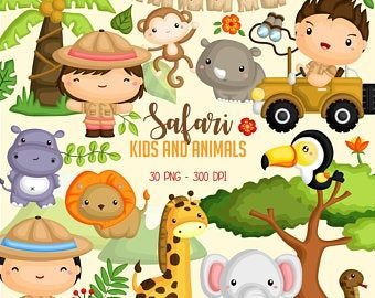 Safari Animal Tropical Animal De La Selva Animales Africanos Etsy In 2021 Safari Baby Animals Animal Clipart Tropical Animals