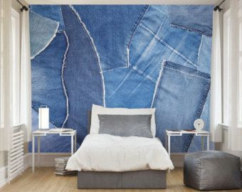 Image Result For Denim Walls Wall Murals Country Living Room Living Room Decor