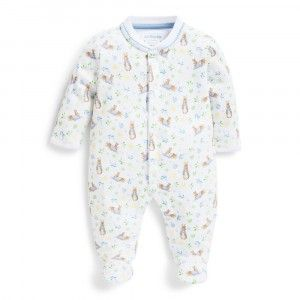 Baby Grow Boys Girls Toddlers Romper Jumpsuit Rabbit Bunny Print Poppers Black