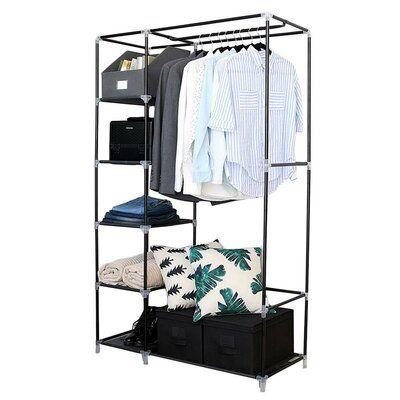 Ebern Designs Cinar 41 14 W Plastic Wardrobe Portable Closet Closet Storage Closet Organizer With Drawers