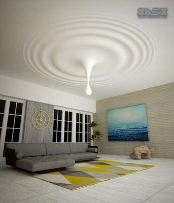Modern False Ceiling Design For Living Room Made Of Gypsum Board