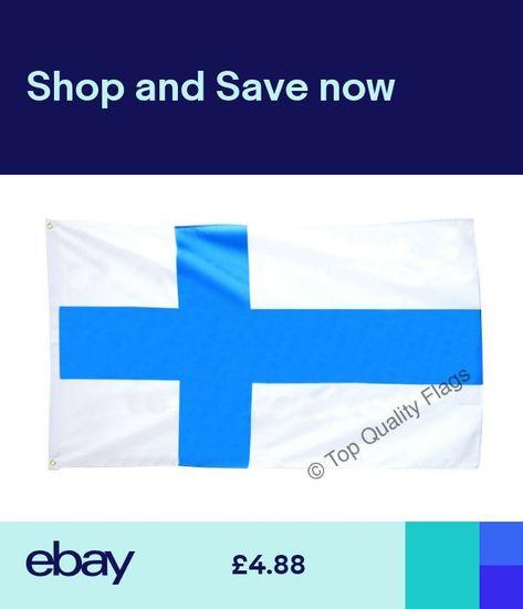 Finland Flag Finnish Banner 90x150cm 5ftx3ft 5ftx3ft