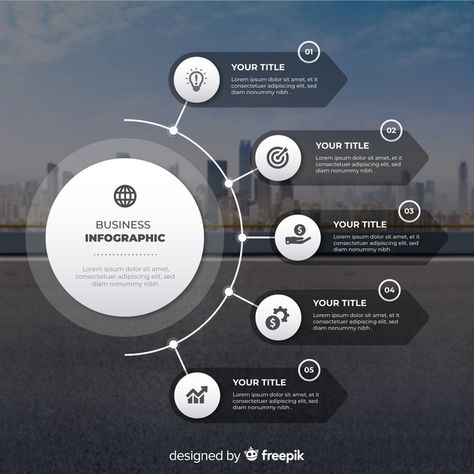 Download Business Infographic Flat Design With Photo for free