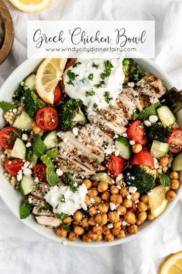 Greek Chicken Bowls Recipe Chicken Bowl Recipe Greek Recipes Healthy Bowls