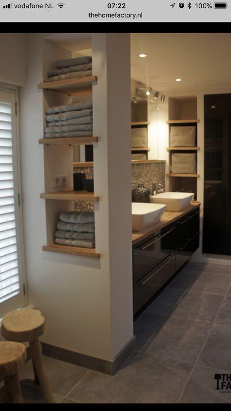 Idee half muurtje | Idée salle de bain, Aménagement salle de ...