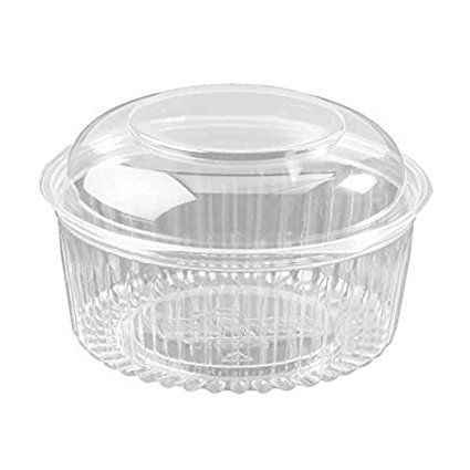 Dart C48bcd 48 Ounce Presentabowls Clear Plastic Bowl With Clear