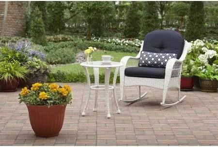 61d020ba7904e43b9958739c8403539e - Better Homes And Gardens Azalea Ridge Outdoor Side Table White