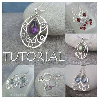 This tutorial shows you how to create an elegant BLOSSOM DROP PENDANT with 49 close-up photos and detailed step-by-step instructions.This tutorial is ideal for a beginner/improver as includes a number of WIREWORK TIPS to help you master some of the techniques of shaping wire, making open spirals, hammering and wrapping wire, as well as useful explanations on how to make your pendants and earrings symmetrical and matching.MATERIALS YOU WILL NEED: 20 gauge soft round wire 26 ...