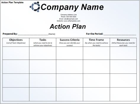 Business action plan template Excel Project Management - business action plan template word