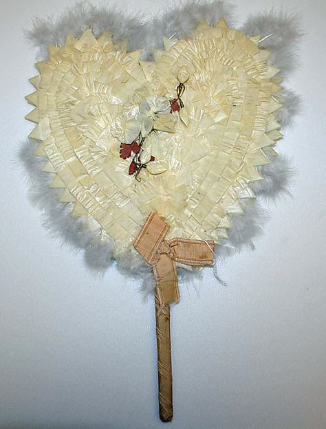 Fan 1895, American, Made of paper and feathers