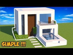Minecraft Tutorial Cara Membuat Rumah Modern 14 Youtube Minecraft Modern Minecraft Designs Minecraft Crafts