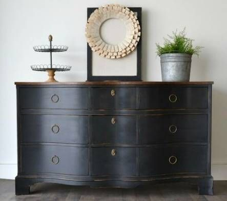 58 Super Ideas For Painting Wood Dresser Inspiration Black Painted Furniture Furniture Painting Wood Furniture