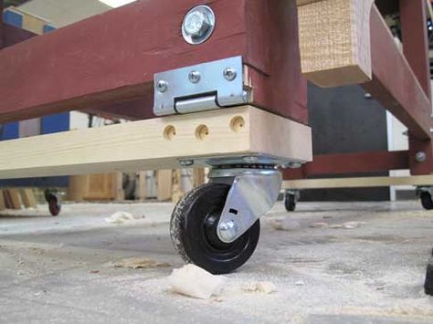 The Easiest Way to Make Your Bench Mobile - Popular Woodworking Magazine