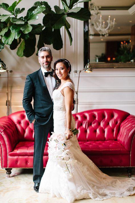 289638cc9 Church Ceremony + Sparkling Pink Ballroom Reception with City Views | Bride  & Groom | Maggie sottero wedding dresses, Wedding dresses, Red wedding  dresses