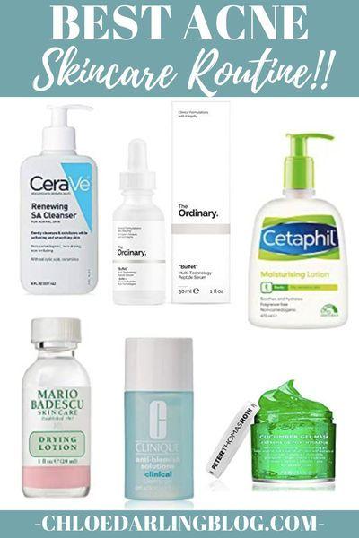 Best Acne Skincare Routine In 2020 Acne Skincare Routine Skin Care Acne Skin Care Routine