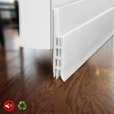 Baining Door Draft Stopper Door Sweep For Exterior Interior Doors Weatherproofing Door Seal Strip Under Door Dr Door Draught Stopper Doors Interior Door Sweep