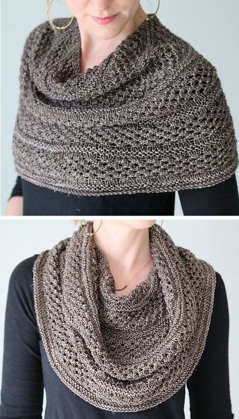 Knitting Pattern for Starshower Cowl - This wrap can be worn as cowl, shoulder cozy, or shawl. Knit in star stitch that showcases variegated sock yarn. Designed by Hilary Smith Callis und Wickel häkeln Shoulder Cozy Knitting Patterns Loom Knitting, Knitting Stitches, Knitting Patterns Free, Free Knitting, Diy Tricot Crochet, Knit Or Crochet, Crochet Shawl, Crochet Granny, Crochet Bikini
