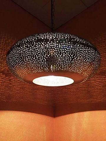 Orientalische Lampe Pendelleuchte Silber Qytura 42cm E27 Lampenfassung Marokkanische Design Hangeleuchte Leuchte Aus Indien Orient Lampen Fur Wohnzimmer Ku Orientalische Lampen Orientalische Deckenlampe Orient Lampe