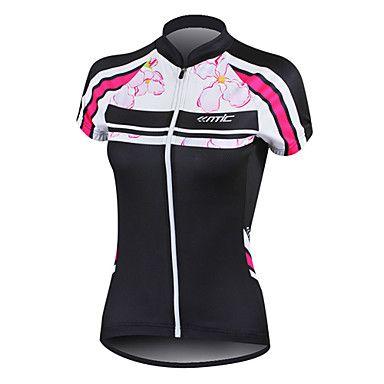 Santic 100% fibra de poliéster de manga corta transpirable + secado rápido  Jersey Ciclismo Mujeres - USD   20.69 5bc0dd405bfeb