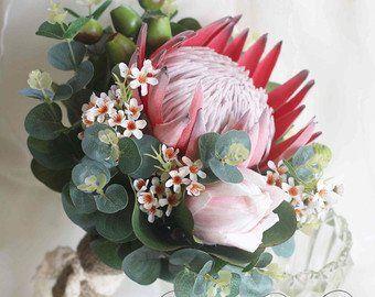 King Protea Artificial Protea Red King Protea Single Stem Rustic Bouquet Protea King Protea